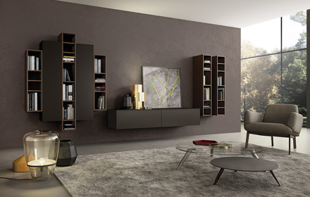 Soggiorni e pareti attrezzate Mantova e Brescia | Arredamenti Volonghi