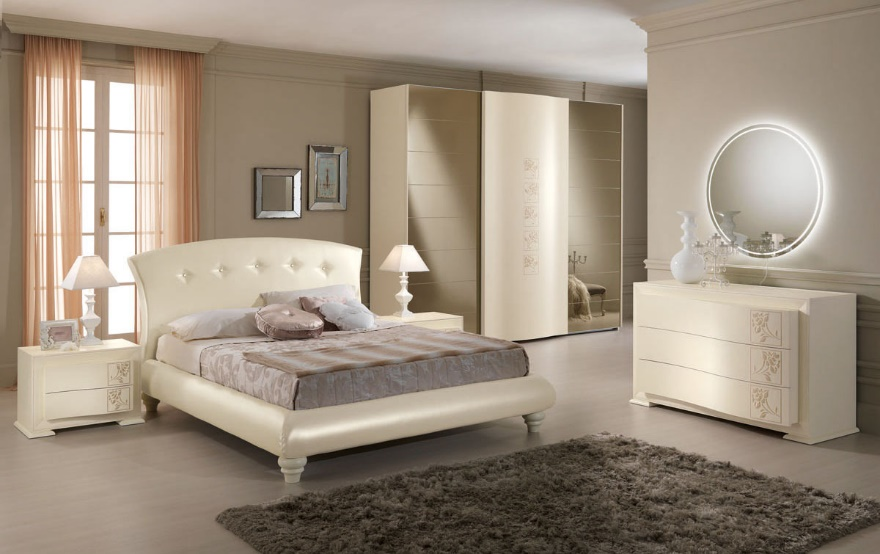 Camere da letto per brescia e mantova arredamenti volonghi - Camera da letto bianca moderna ...