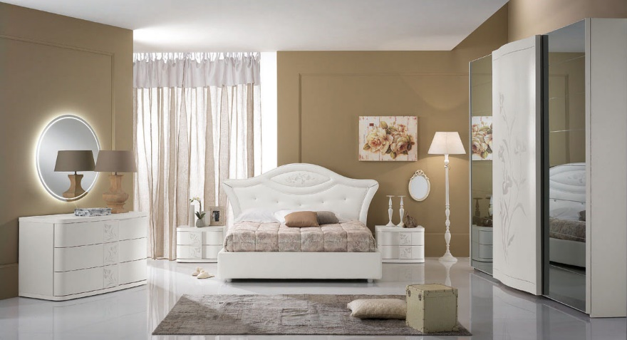Beautiful Camera Da Letto Laccata Bianca Contemporary - Design ...